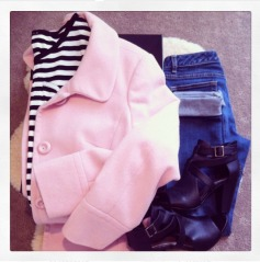 Stripes Denim + Pink