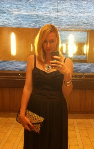 Bathroom selfie playing along with #frocktober!