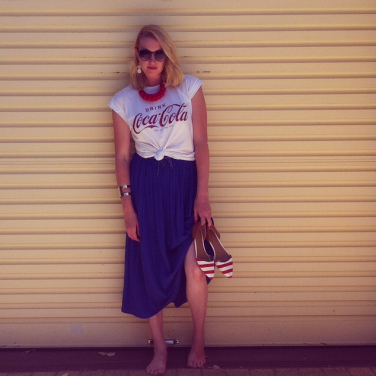 Another Best and Less skirt with my all time favourite Coca Cola tee from K-mart (and new $10 shoes from Target!)